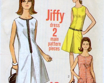 Simplicity 6443 sewing pattern // Misses' One Piece Jiffy Dress