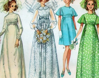 Simplicity 8144 sewing pattern // Misses' Wedding Dress or Bridesmaid Dress in Two Lengths