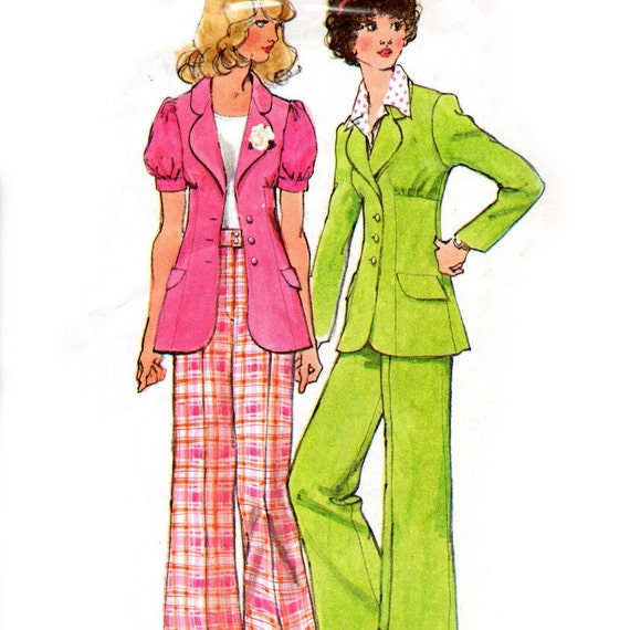 Simplicity 5642 sewing pattern // Misses' Unlined Jacket and Pants