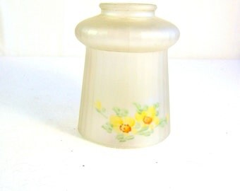Antique Handpainted Glass Globe Light Replacement Cover Shade