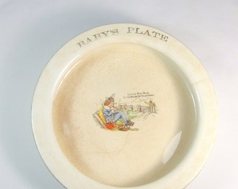 Antique Heavy1920s Baby Feeding Dish