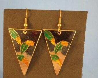 Clearance Triangle Leaf Earrings (P29)