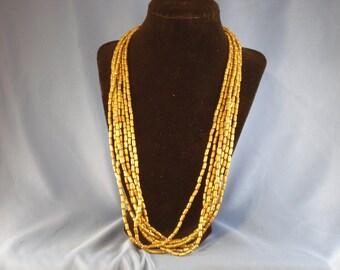 Vintage seven gold strand 24 inch necklace (N3)