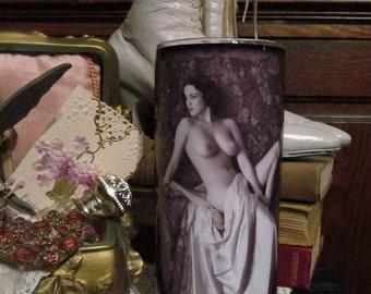 Vintage Woman Candleholder six