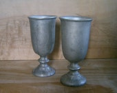 SALE - Vintage Wilton Armetale Water Goblets, Set of 2
