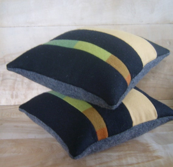 SALE - Pendleton Wool Pillow Pair, 11x12