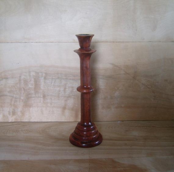 SALE - Vintage Wood Candlestick Holder