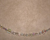 2 Clear Crystal & Glass Chokers--Yet Totally Different--Sold Separately--Free Shipping in US