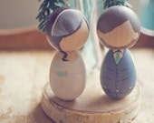 2 Custom Wooden Dolls Wedding Cake Topper or Anniversary Gift