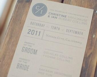 Kraft Ceremony Program for Weddings (Custom)