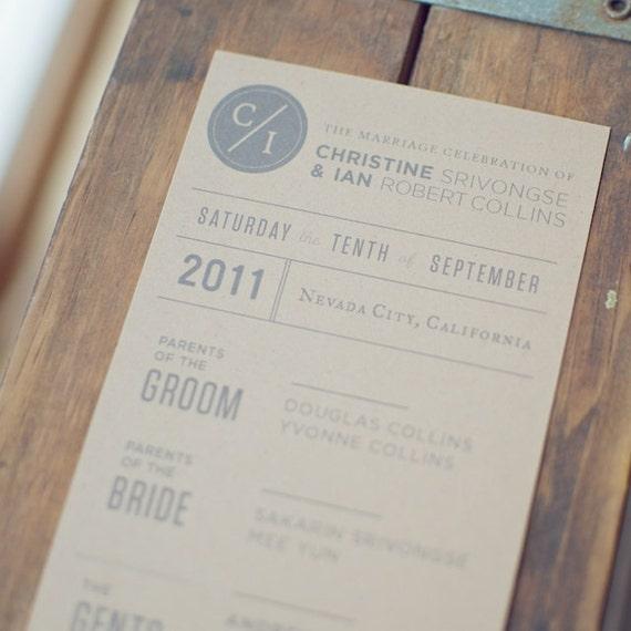 Reserved for Adam - 150 Ceremony Programs for Weddings (Custom)