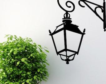 Street Lamp, Vinyl Wall Decal, Home Decor, Wall Sticker, Paris Street Lamp, Living Room Decor, Wall Decor - ID57 [p]