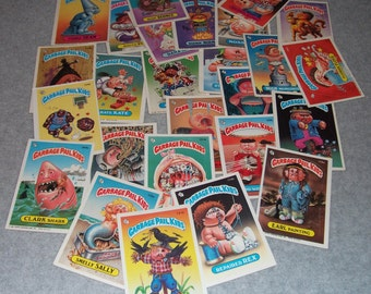 Vintage Gross Garbage Pail Kids GPK 150 Sticker Lot Cards 1980s 80s Retro Hipster Cool Stickers