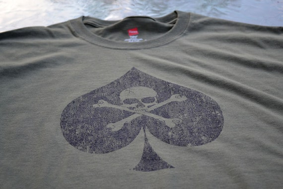 Military shirt Ace of Spades shadow ranger army symbol of death spade t shirt shadow ranger army spec ops Skull and Crossbones tshirt