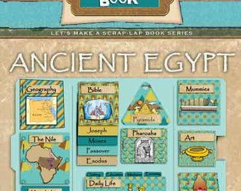 Ancient Egypt Scrap Lapbook & Egypt Clip Art Bible Focuses, includes Moses, Joseph, Pyramids, Pharaohs, Mummies