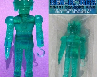 SEA-BORG KING 4.5 inch Plastic Resin Figure