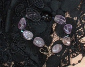 Amethyst and Onyx Chunky bracelet
