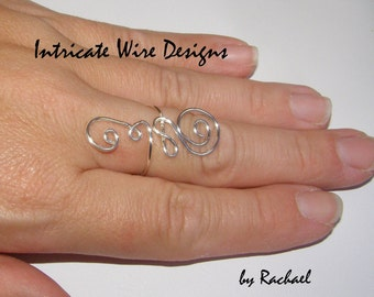 Jewelry, Wire Ring, Knuckle Ring, 925 Sterling Silver, Gold, Copper, Gift. Wire Wrapped Rings by IntricateWireDesigns on Etsy.