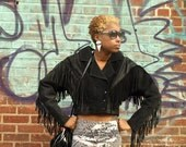Southwest Jacket/ Fringe Jacket/ Fringe Leather/ Tassel Jacket/ Western Jacket/ Motorcycle Jacket/ Womens Biker Jacket/ Fringe Coat/ Minimal