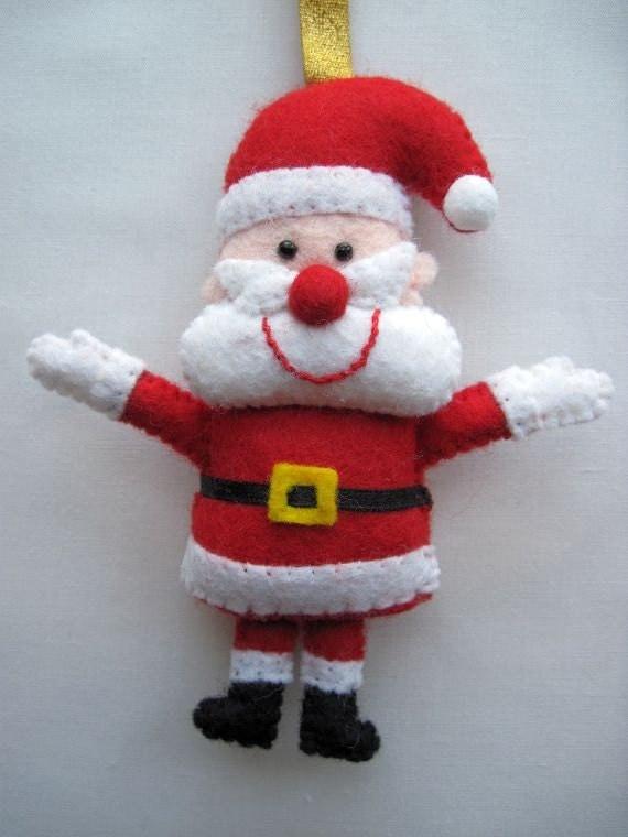 to Felt Christmas Santa Claus Father Christmas hanging ornament ...