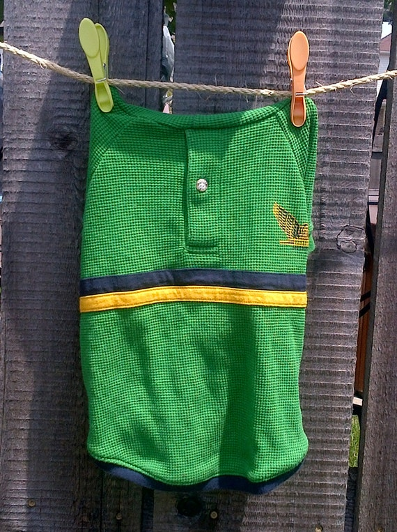 Green Upcycled Dog Jersey (small)