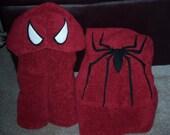 Superhero Spider Hooded Towel - Free Personalization