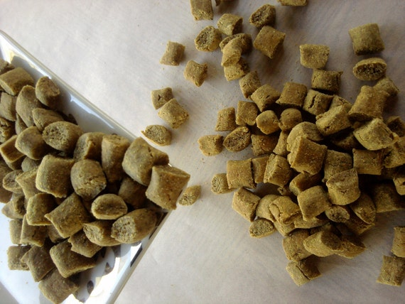 Peanut Butter Trainers for Puppys and Dogs All Natural Wheat Free Made by Bow-Wowies in Bend Oregon Dog Treats