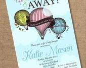 Hot Air Balloon Invitation - Printable - Color Customizable