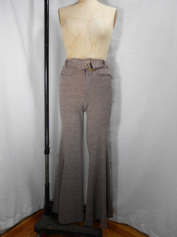 1970s High Waisted Bell Bottoms Size 5
