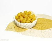 Bright Yellow Czech Opaque Glass Beads 8mm (20) Round druk beads. Frosted Matte Lemon Zest Spring