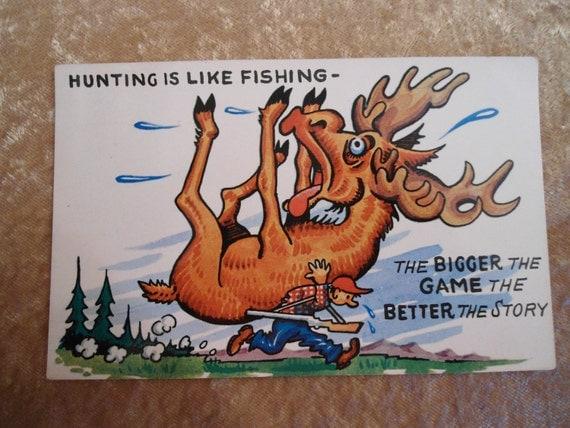 Vintage Postcard 1950s Hunting