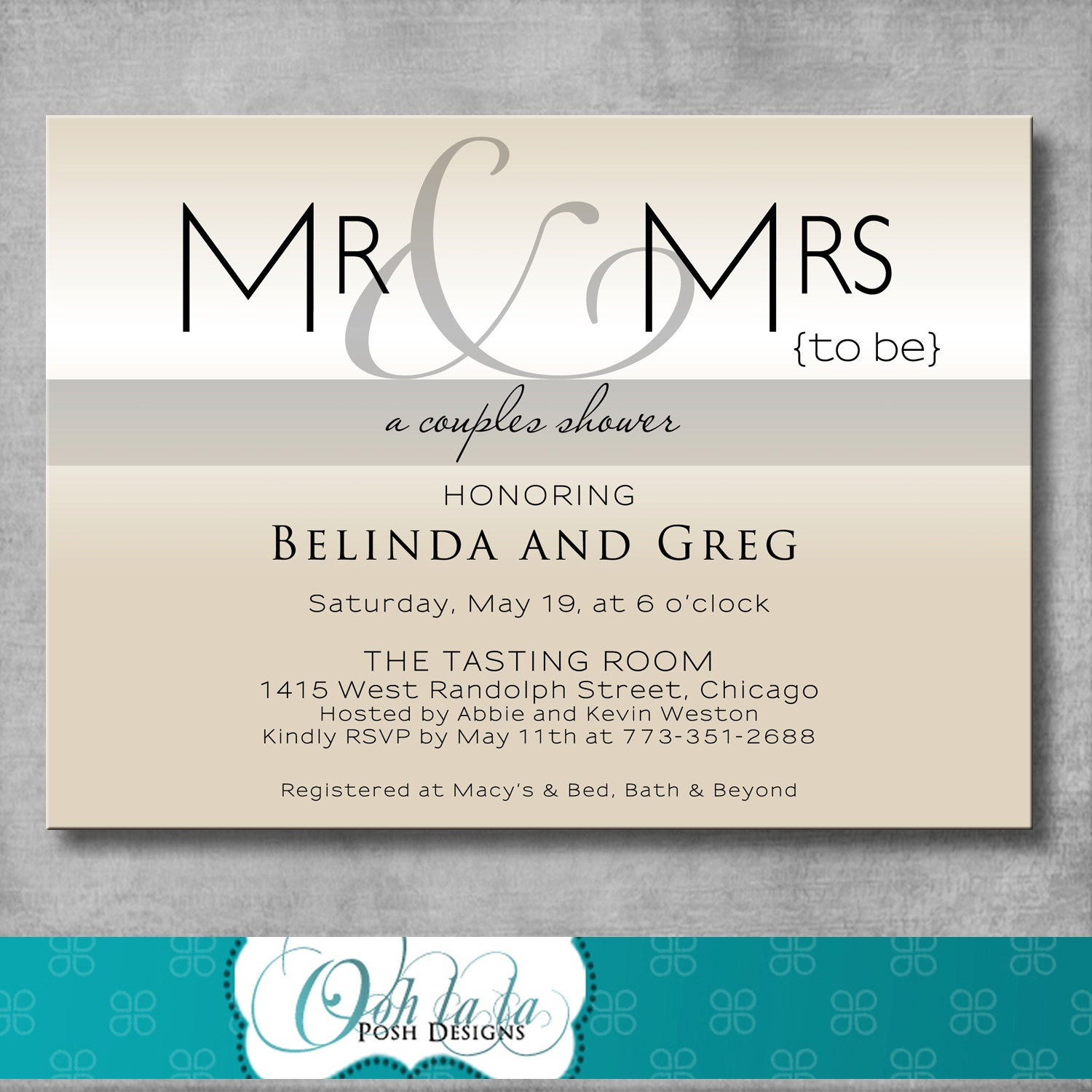 Couples Wedding Shower Invitations with good invitations layout