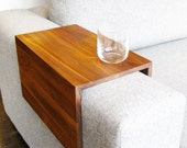 The Original Couch Arm Wrap - SOLID WOOD custom sofa table arm rest for drinks food laptops and more
