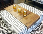 Ottoman Wrap - custom  made fitted tray table for ottoman or coffee table