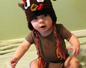 Crochet Turkey Toddler or Baby Hat