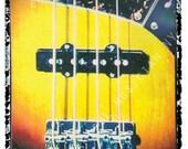 bass guitar art,music wall decor, musicians gift, gift for guy, gift for boyfriend, hipster, dude, rock n roll art