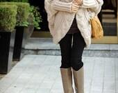 warm spring/women sweater/wrap sweater/warm/wool/loose