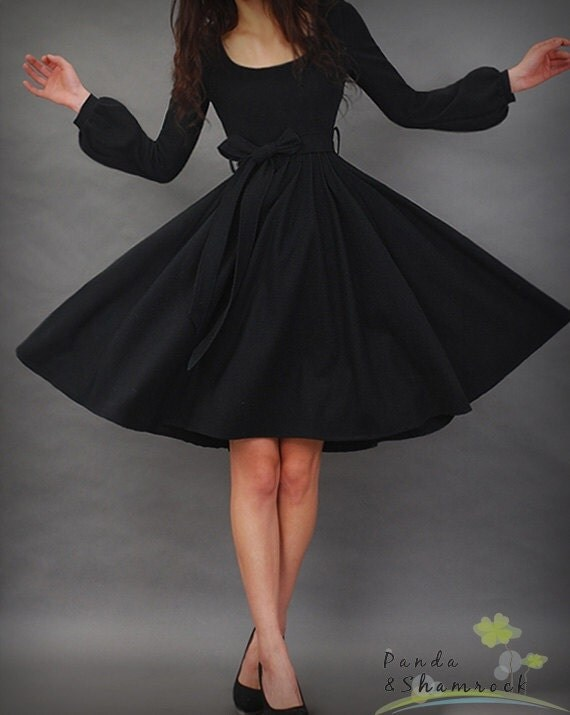 Let's dance/dress/winter/long sleeves/flowing