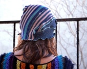 Women's Cloche Hat - Women's Hats -  Vintage Inspired Hats - upcycled - Blue