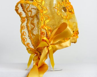 The Erika Yellow Baby Bonnet