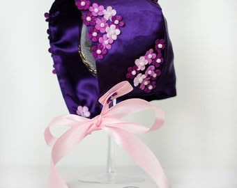 The Morgan Purple Baby Girl Bonnet
