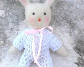 Needle felted baby bunny - Eco friendly -Made to order