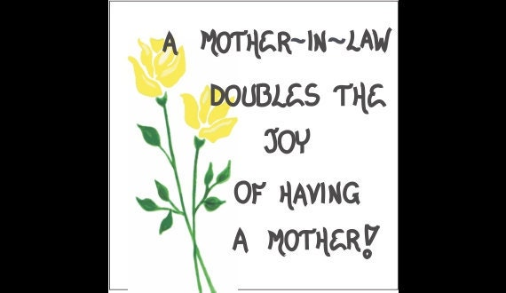 Mother-in-Law Magnet Quote Mom Of Spouse By