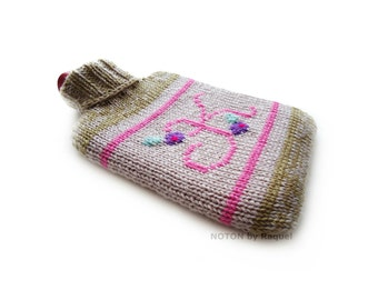 K - Monogram Knit Hot-water Bottle Cover