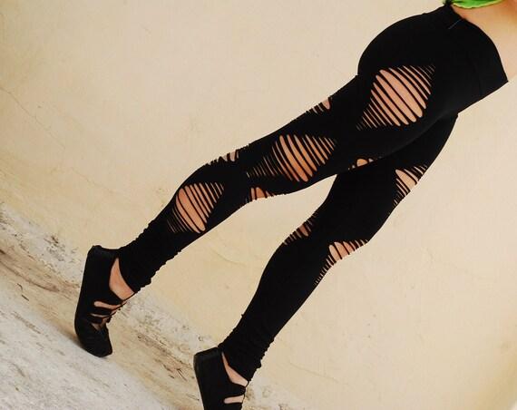 Ripe Black Leggings, Sexy Leggings, Hooping clothing , Black Fairy Pixie
