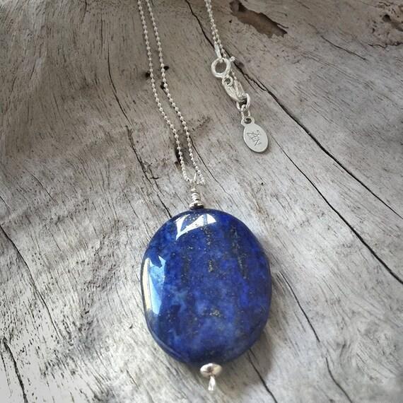 Lapis Lazuli Pendant on Sterling Silver Chain