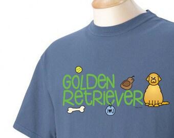 Golden Retriever Doodle Garment Dyed Cotton T-shirt