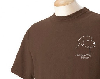 Chesapeake Bay Retriever Garment Dyed Cotton T-shirt
