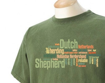 Dutch Shepherd Garment Dyed Cotton T-shirt