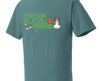 Parson Russell Terrier Doodle Garment Dyed Cotton T-shirt